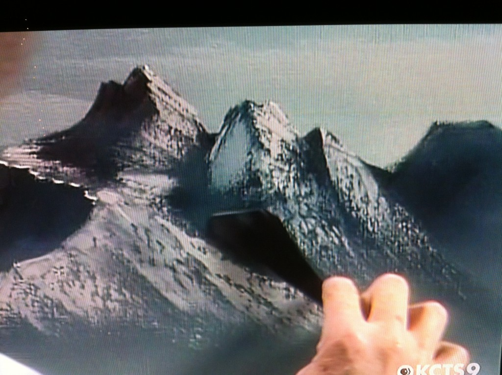 "A man very clear about his happy place… Bob Ross and his ""beautiful, beautiful mountains"""