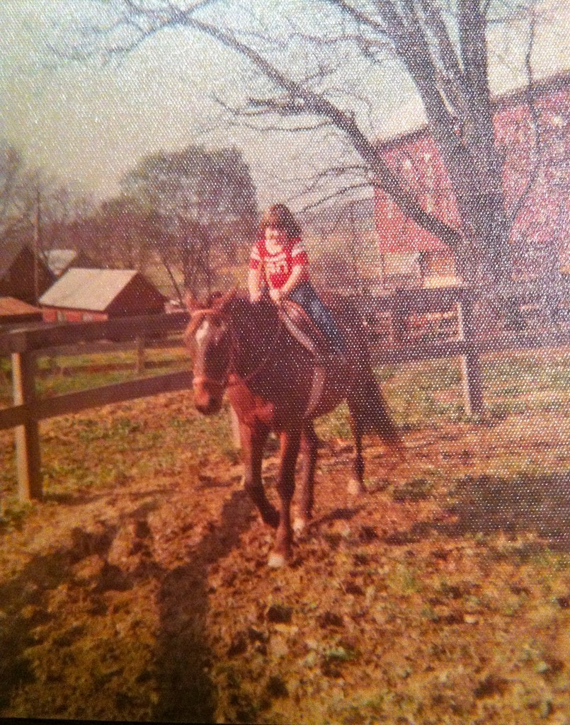 Horseback riding lessons at a young age