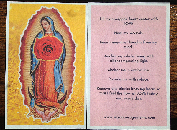 heart chakra prayer card